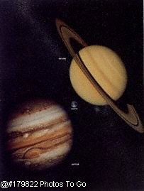 Saturn and Jupiter